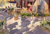 watercolor scenes