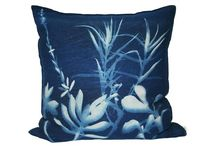 Botanical Blueprints / For our range of interior scatter pillows 'Botanical Blueprints' we pay homage to Sir John Herchel's blueprint process and our indigenous grasslands and shrubs here in South Africa. The delicate nature of these unsung heroes are captured on 100% linen, with actual plant materials and sunlight. No two blueprints are ever the same.