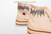 BlingLogo Custom Converse / Hand Painted Custom Converse Shoes / Sneakers