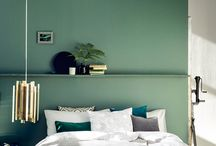 Trend: Green and Serene / Gorgeous greens for your bedroom.