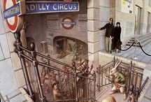 Kurt Wenner Street Art / Kurt invented 3D pavement art. Inspired by anamorphic perspective, he had to invent an entirely new geometry in order to create his astonishing 3D pavement art images. He will be in Cape Town in April to create an image at the V&A Waterfront.