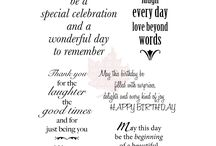 Words for birthdays / Words for birthdays