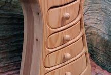 Porta gioielli in legno