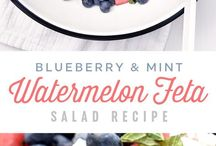 Blueberry watermelon salad