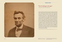 """Lincoln Mania / Abraham Lincoln is everywhere at the Smithsonian! Drawn from the collections at the National Museum of American History and the National Portrait Gallery, these items were part of Smithsonian Traveling exhibitions. Among the group is the """"Mask of Lincoln"""" portfolio set, created by the Smithsoniain Institution Traveling Exhibition Service (SITES), which charts Lincoln's passage from the fresh-faced Illinois congressman to the troubled president torn apart by the Civil War.  / by SITES Exhibits"""