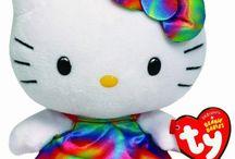 Rainbow hello kitty / Plushies