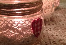 Centro tavola di Natale fai da te / Riciclo barattoli