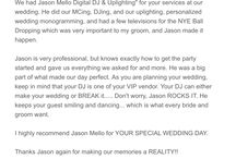 Reviews / Bride & Groom reviews of my performance on their Big Day!