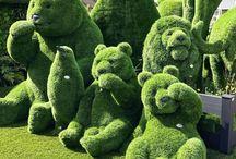 zelené sochy