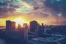 Skylines in Hawaii / Home to enchanting Honolulu City Lights and other cityscapes.