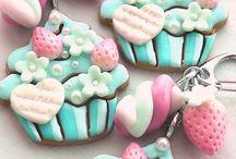 polimer clay cupcake