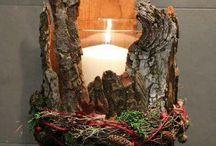 svíčky, svícny ...
