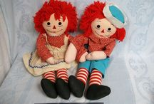 179 Raggedy Ann & Andy / My favorite as a child... Raggedy Ann and Andy. Raggedy-style dolls. Also primitive Raggedys.