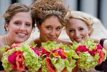 Hot pink, orange, yellow and green wedding