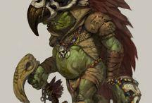 goblins, orcs, trolls
