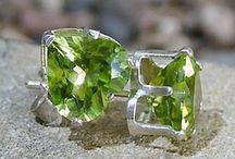 earrings with gemstone