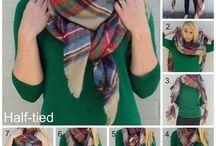 Завязывание шарфов