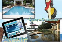 Marketing Art for Pool Builders / Creative marketing artwork for pool builders.  From Shawn Richter @ Artful Pools Design and Consulting and Out of Mind Designs www.artfulpools.com