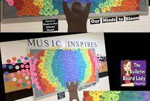 Music display - whole school