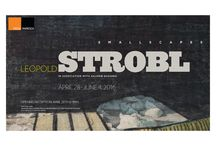 Leopold Strobl: Smallscapes / Strobl draws on newspaper clippings, preferring a small format. Devoted to art for over 35 years, he has worked at the Gugging Open Studio for 12 years.