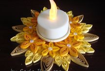 Paper Holders / Quilled Craft for you to put the ressau candle on.