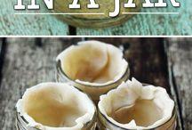 baking in jars