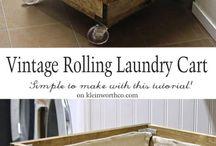DIY Pallet laundry basket