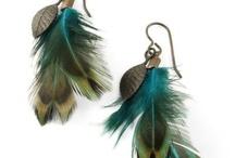 náušnice z peříček (feather)
