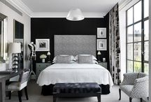 Bedroom decor / Interesting colours and furniture for the bedroom
