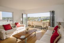 Vinnick Rock - a self-catering holiday cottage in Polzeath, North Cornwall by Latitude50. / Three floors of contemporary and stylish beachside living in the heart of Polzeath. This new build is part of the exclusive Pinewood development and benefits from breathtaking views across the countryside and beach.  Find out more here: http://tinyurl.com/zb2axjf