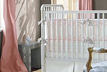 Baby Girl Nursery / Pink/Grey with Vintage Feel