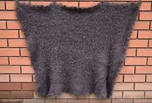 Russian shawl / ** Mohair69 ** My selling on Ebay. Russian warm gray hand-knitted shawls. Browse and buy on my eBay - you're welcome. Thank you !
