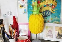 Pineapple lamp / Pimple lamp DIY made out of plastic spoons