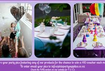 Real party pics - inspiration from our customers / Share your party photos featuring any party products purchased from us and go in the draw to win a $10 voucher. To enter email your photos to info@pixiepartysupplies.co.nz Terms & conditions can be found on the FAQ section on our website.