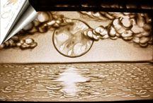 Sand Art / Sand Drawing by Simona Gandola (Rome)