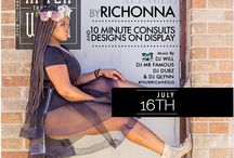 Upcoming Event Flyers / Fashion Shows and other events that Married 2 Art will be apart of