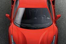 Ferrari / D'innombrables Ferrari dans ce tableau qu'on pourrait appeler garage