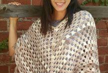 crochet ponchos + shawls