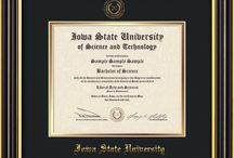 ISU - Iowa State University Diploma Frames and Graduation Gifts! / Official ISU Diploma frames. Exquisitely crafted to exacting specifications for the ISU diploma. Custom framed using hardwood mouldings and all archival materials, including UV glass to prevent fading from sunlight AND indoor incandescent lighting! Each frame exceeds Library of Congress standards for document preservation and includes a 100% lifetime guarantee, ensuring that a hard-earned achievement will be honored and protected for generations. Makes a thoughtful and unique graduation gift!
