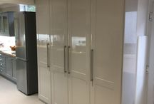 Kitchen cupboards / We create bespoke kitchen storage to the space available, giving you maximum storage in the finish you choose.