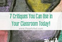 Reflectie in de kunstklas / Ideeen over hoe kan je reflectie en het geven van feedback vorm geven in de kunstlessen