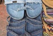 Vieux jeans tongues