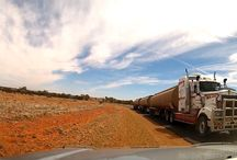 australia outback road train wallpaper / australia outback road train wallpaper