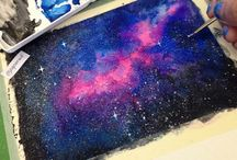 Watercolor experimentation / The galaxy