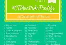 #CTMonthInTheLife / A month in the life of Smiling Cat Studio as inspired by @JessVanDen at @CreateAndThrive.