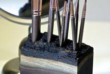 Air brush holder
