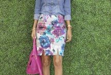 Floral skirts outfits