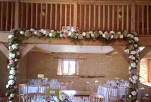 Venue : The Kingscote Barn - Cotswolds / Inspirational wedding flowers created at The Kingscote Barn by   Bijouxfloral.co.uk