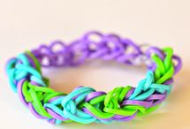 Rubber band bracelets / by Andrea Posey