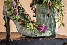 Pantof din flori
